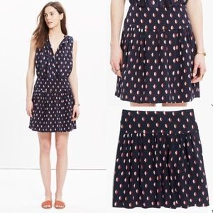 Madewell Silk Skyline Skirt in Ikat Dot